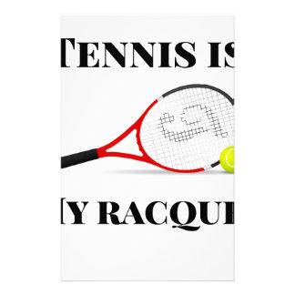 Tennis ist mein Schläger-Geschenk Briefpapier