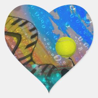 Tennis ist meine große Leidenschaft Herz-Aufkleber