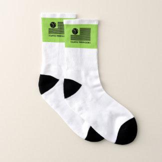 Tennis-kleine ganz vorbei - Druck-Socken Socken