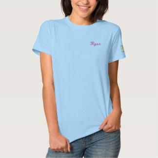Tennis-Knirps-Hochschulname+Staplungslogo auf Besticktes T-Shirt