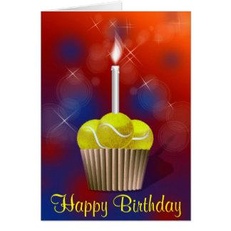 Tennis-Kuchen-alles Gute zum Geburtstag Karte