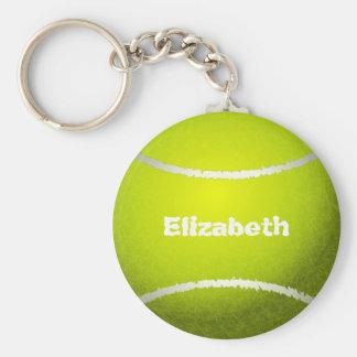 Tennis-kundenspezifischer Ball Keychain Standard Runder Schlüsselanhänger
