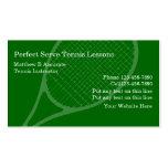 Tennis-Lektions-Visitenkarten
