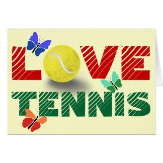 Tennis-Liebe Karte