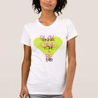 TENNIS-LIEBE 'n ANGEMESSEN durch See-Tennis T-Shirt