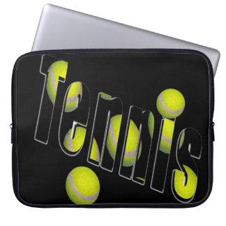 Tennis-Logo und Bälle, Laptopschutzhülle