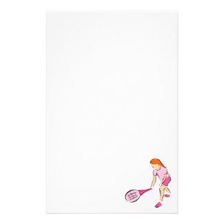 Tennis-Mädchen Briefpapier