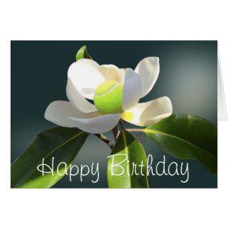 Tennis-Magnolien-alles Gute zum Geburtstag Karte
