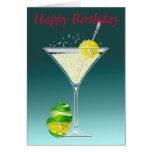 Tennis Martini, alles Gute zum Geburtstag Grußkarten