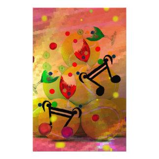 Tennis mit Musiknoten im Weihnachten Briefpapier