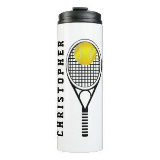 Tennis-personalisierter Name oder Monogramm Thermosbecher