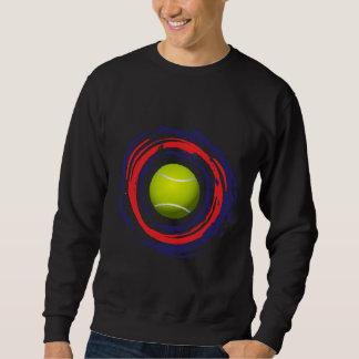 Tennis-rotes Blaues und weiß Sweatshirt