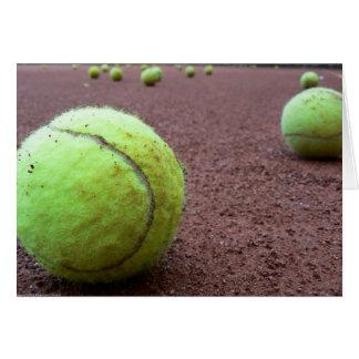 Tennis-Sandplatz-Karte Karte