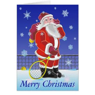 Tennis Sankt frohe Feiertage Karte