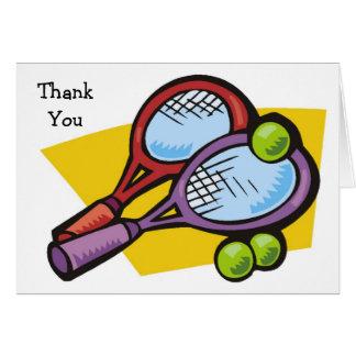 Tennis-Schläger-Bälle danken Ihnen Karten