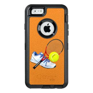Tennis-Schuh-Ball und Schläger mit Ihrem OtterBox iPhone 6/6s Hülle