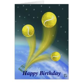 Tennis-Sieg-alles Gute zum Geburtstag Karte
