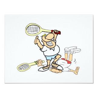 Tennis-Sieger 10,8 X 14 Cm Einladungskarte