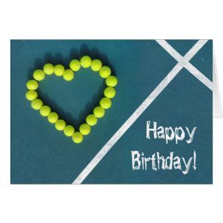 Tennis-Spieler-alles Gute zum Geburtstag Karte