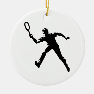 Tennis-Spieler Keramik Ornament