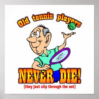 Tennis-Spieler Plakate
