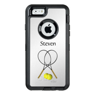 Tennis-Sport-Thema personalisiert OtterBox iPhone 6/6s Hülle