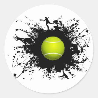 Tennis-städtische Art Runder Aufkleber