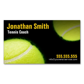 Tennis-Trainer für Tennis-Lektions-Geschäft Visitenkartenmagnet