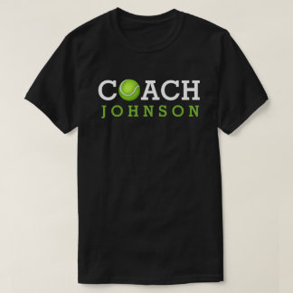 Tennis-Trainer-individueller Name T-Shirt
