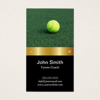 Tennis-Trainer-königlicher Goldgurt Visitenkarte