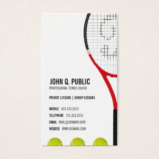 Tennis-Trainer Visitenkarte