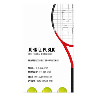 Tennis-Trainer-Visitenkarten Visitenkarten