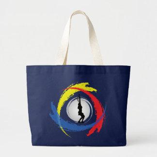 Tennis-Tricolor Emblem (weiblich) Jumbo Stoffbeutel
