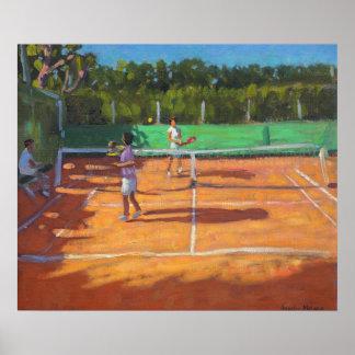 Tennis üben Kappe d'adge Frankreich 2013 Poster