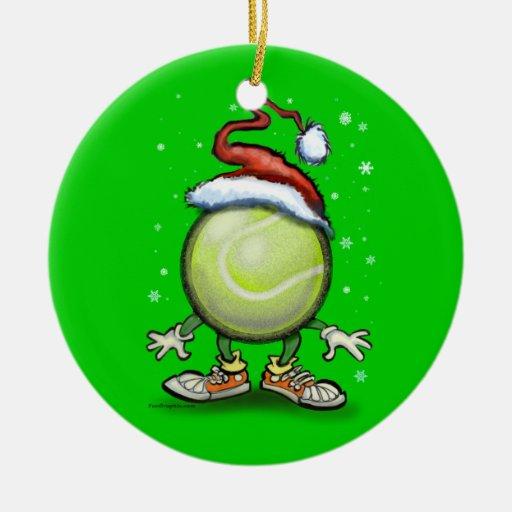 Tennis weihnachten rundes keramik ornament zazzle for Design couchtisch hn 777