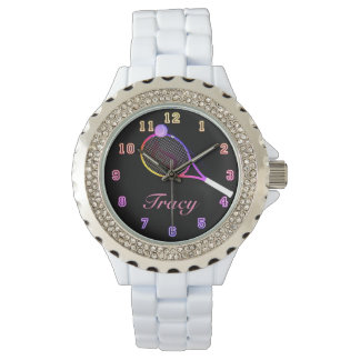 Tennis-Zeitrosa Armbanduhr