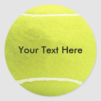 Tennisball-Aufkleber Runder Aufkleber