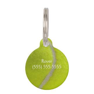Tennisball-Druck-Muster-Hintergrund Tiernamensmarke