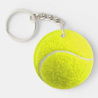 """""""Tennisball"""" Entwurfsgeschenke und -produkte Beidseitiger Runder Acryl Schlüsselanhänger"""
