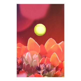 Tennisball in der wilden Blume Briefpapier