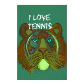 Tennisball mit Löwe Briefpapier