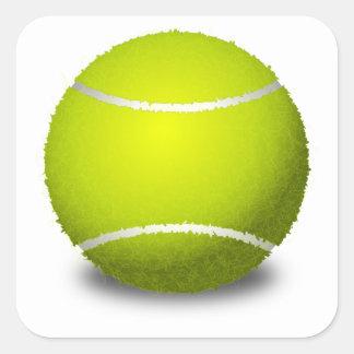 Tennisball Quadratischer Aufkleber