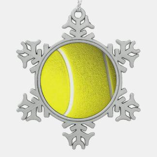 Tennisball Schneeflocken Zinn-Ornament