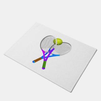 Tennisball und Schläger Türmatte