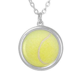 Tennisball Versilberte Kette