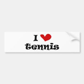 Tennisgeschenke und -t-Shirts der Liebe I mit Autoaufkleber