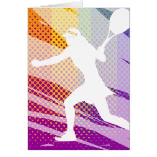 Tennisgrußkarte für Frauen und Mädchen Karte
