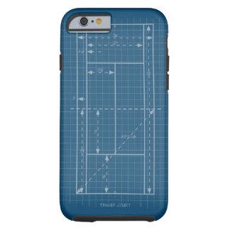 Tennisplatz Tough iPhone 6 Hülle