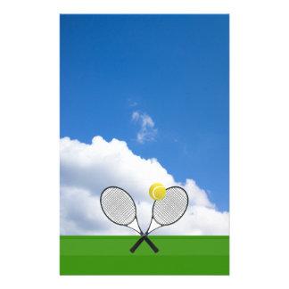 Tennisplatz u. TENNIS-SCHLÄGER Briefpapier