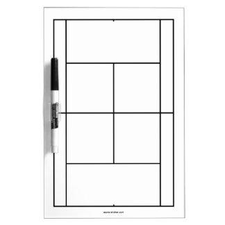 Tennisplatzmaterialien für Lektionen   Whiteboard